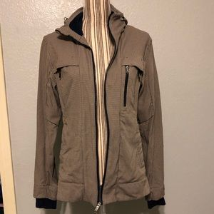 Lululemon zip jacket with removable hoodie